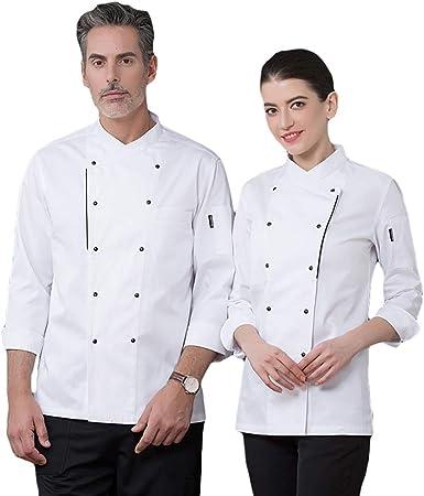SK Studio Unisexo Algodón Manga Larga Chaqueta Cocina Uniforme Camisa de Cocinero Estilo 13: Amazon.es: Ropa y accesorios