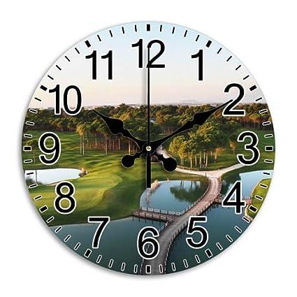 nice design quiet wall clock. Nice Clock Frameless Comfortable Round Wall Quiet Arabic Numbers  Diameter 9 8 Inch Amazon com