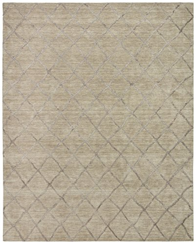 Stone Beam Modern Textured Pattern Wool Rug 8 X 10