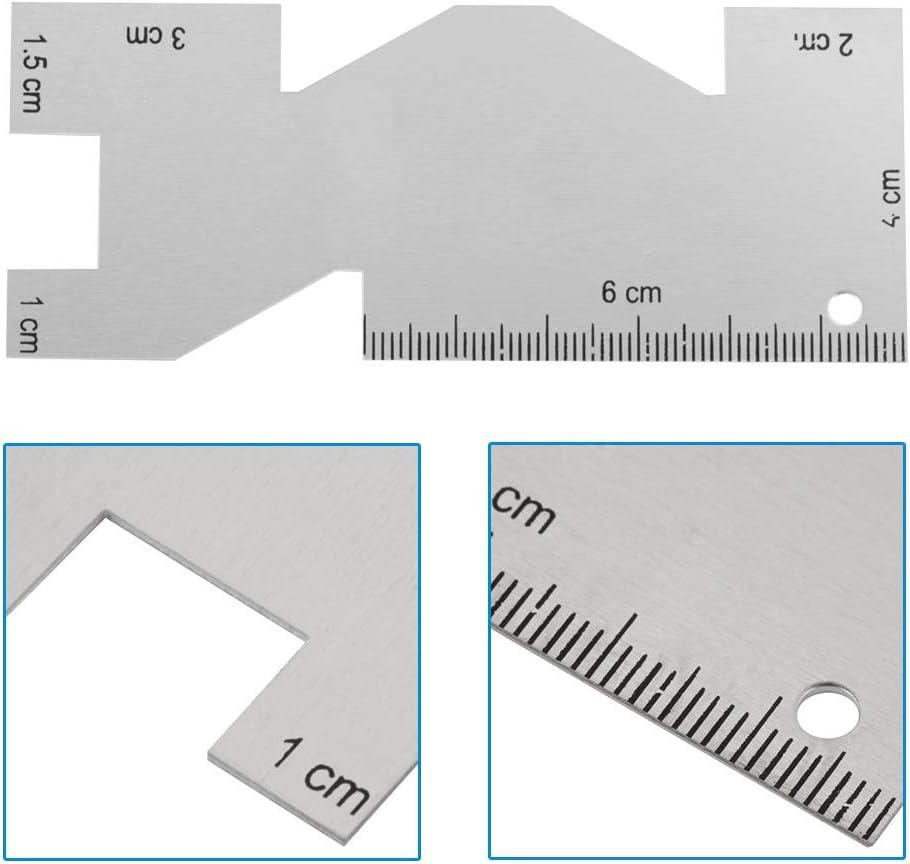 Metal Measuring Gauge Quilting Ruler Template Hand Quilting Sewing Seam Measuring Gauge Professional Sewing Tool Accessory Sewing Ruler