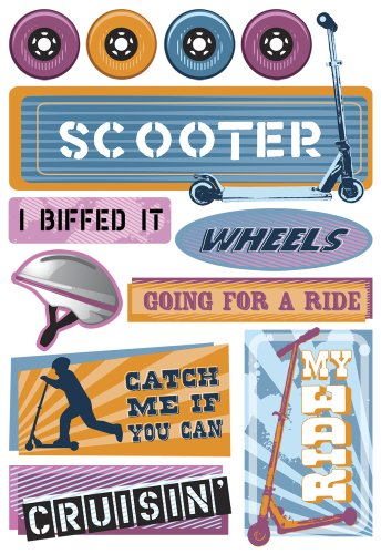 Karen Foster Design - Stickers - Bikes and Scooters Collection - Kids (Bike Collection)