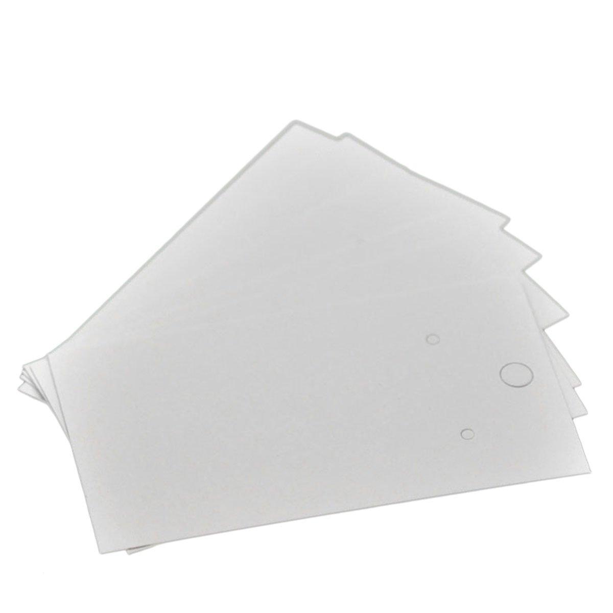 HOUSWEETY 100PCs White Earrings Jewelery Display Cards 9x5cm 3 4//8x2