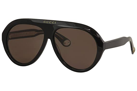 Amazon.com: Gafas de sol Gucci GG 0479 S- 001 BLACK/BROWN ...