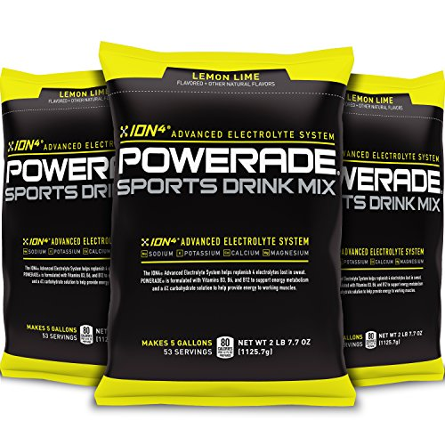 POWERADE Lemon Lime Powder, 2.7 Pound (Pack of 3)