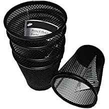 Black Wire Mesh Pencil Holder - Pack of 5