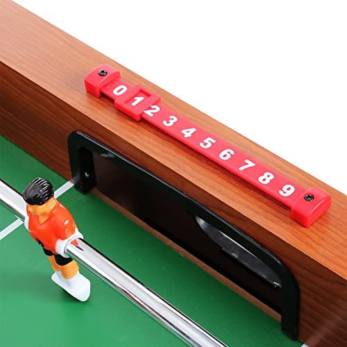 begorey Futbolín de Madera 48inch Fútbol Mesa de la Competencia Soccer Arcade Sala de Juegos Fútbol Deportes (Negro): Amazon.es: Juguetes y juegos