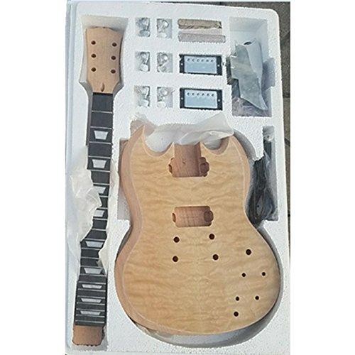 (Mahogany Body Quilted Maple veneer DIY SG guitar kit)