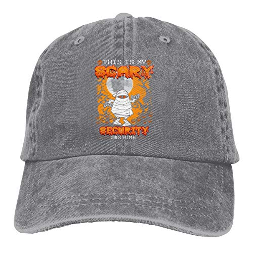 Kkidj Ooii This is My Scary Security Costume Cowboy Caps Unisex Baseball Hats -