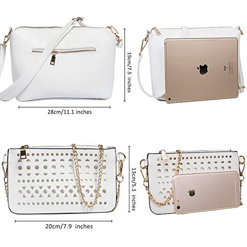 Handbags Wallets White Body Cross Satchel for Womens Purses Summer Shoulder Tote and Bags Bwf5q4