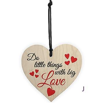 LEEDY - Placa Colgante de Madera romántica para Regalo de Familia, Amistad, Amor,