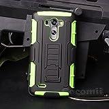 LG G3 Case, Cocomii® [HEAVY DUTY] LG G3 Robot Case **NEW** [ULTRA FUTURE ARMOR] Premium Belt Clip Holster Kickstand Bumper Case - Full-body Rugged Protective Cover for LG G3 (Black/Green) ★★★★★