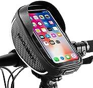 "ROCKBROS Bike Handlebar Bag Waterproof Bike Phone Bag Bicycle Front Top Tube Cellphone Bag Fits for 6.5"""