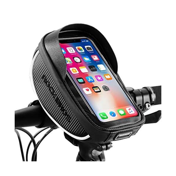 ROCK BROS Bike Phone Bag Bicycle Phone Mount Bag Waterproof Handlebar Bike Phone...