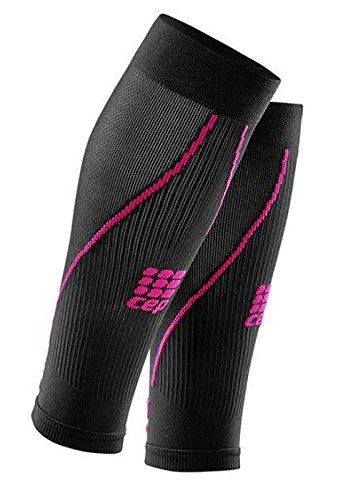 Womens Calf Compression Sleeves - CEP Running 2.0 (Black/Pink) II