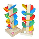 Qiyun Wood Tree Marble Run Ball Track Game Toy Building Blocks Children Intelligence Educational Toy