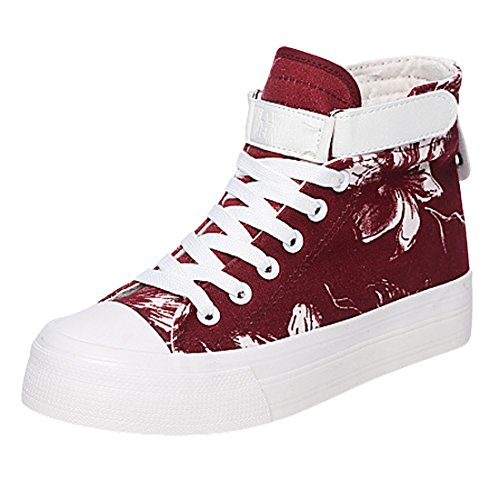 Agatha Garcia Women's Casual Lace-Up High-Top Creeper Sneaker Shoes