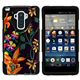 TurtleArmor | Compatible for LG G Stylo Case | LG G4 Stylus Case [Dynamic Shell] Hybrid Dual Layer Hard Shell Cover Kickstand Silicone Case - Flower 4