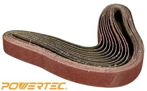 POWERTEC 111280 60 Grit Aluminum Oxide Sanding Belt, 1 x 30-Inch, 10-Pack (30 Sanding Belt)