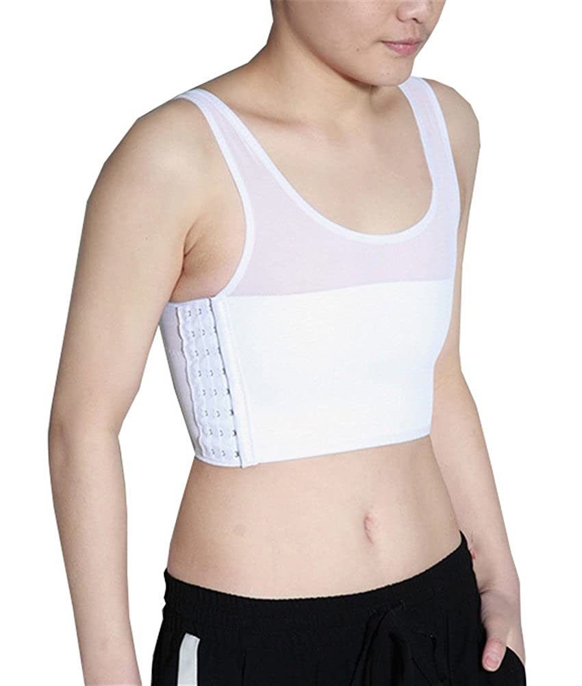 Breathable Super Flat Les Lesbian Tomboy Compression 3 Rows Clasp Chest Binders