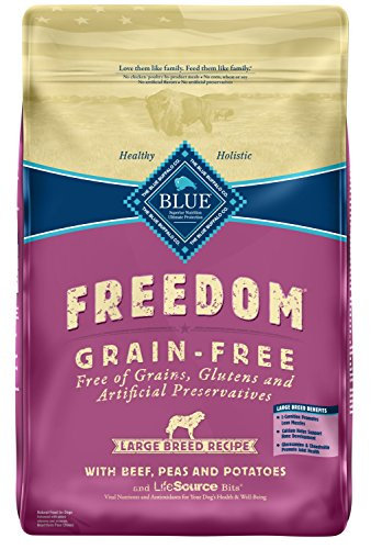 Blue Buffalo Freedom Grain Free Recipe for Dog, Large Breed Adult Beef Recipe, 24 lb