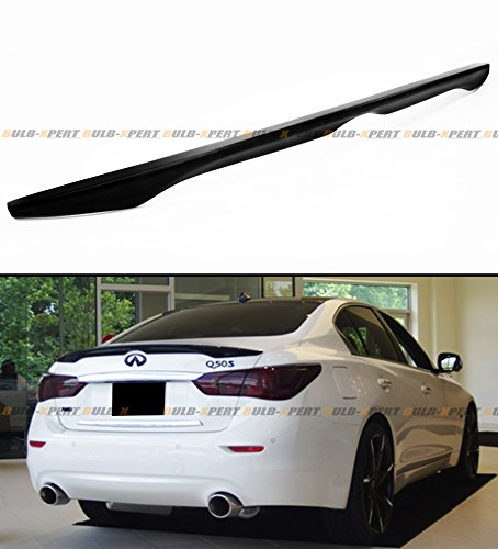 Factory Style Spoiler Wing - Cuztom Tuning Fits for 2014-2019 Infiniti Q50 Q50S Factory Style Trunk Boot Lid Spoiler Wing-Primer Finish