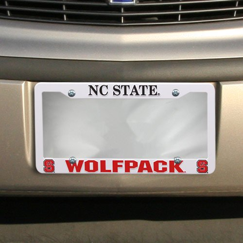 Rico NCAA North Carolina State Nc State 'Block S' Ez View Frame Plastic Frame Sports Fan Automotive Accessories, Multicolor, One (Official Plate Block)