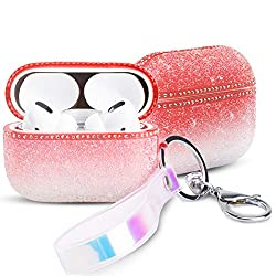 Gradient Pink AirPods Pro Case With Glitter & Rhinestone