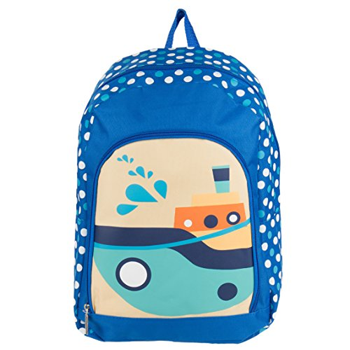 Nylon Hybrid Lovely Kid's Travel Bag Backpack Fits RCA Portable DVD Players (Boats)