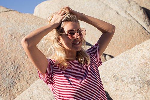 Or2 faite yeux Style Femmes Cheapass Monture rondes soleil chat de de de UV400 métal grandes Lunettes qZHUSwS
