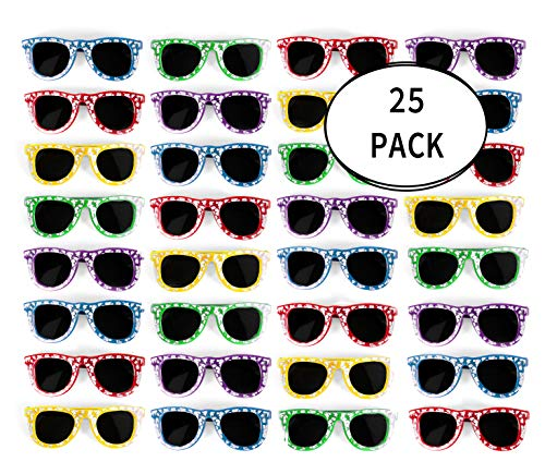 Bulk Kids Hibiscus Sunglasses Party Favors - Favorite Luau Party and Pool Party Favors- Bulk Party Set of 25