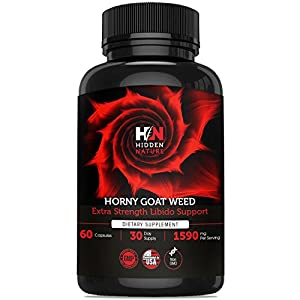 Pure Horny Goat Weed with Maca & Tribulus, Female & Male Enhancement Fast Acting Pills, Natural Energy, Performance, Libido Booster & Sexual Health | 60 1590 mg Optimum Dosage natural male enchantment - 51uUYSzKrcL - natural male enchantment