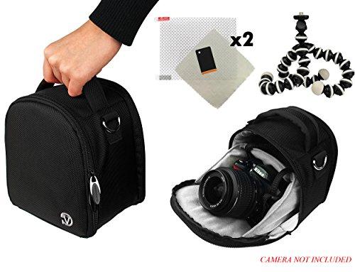 D600 Series Battery - Laurel Travel Camera Bag Case For Nikon D-Series D60, D600, D610, D70, D700, D7000, D70s, D7100 DSLR Camera + Screen Protector + Screen Protector + Mini Tripod