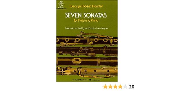 Amazon Com Seven Sonatas For Flute And Piano 9780793554164 Handel George Frederick Books