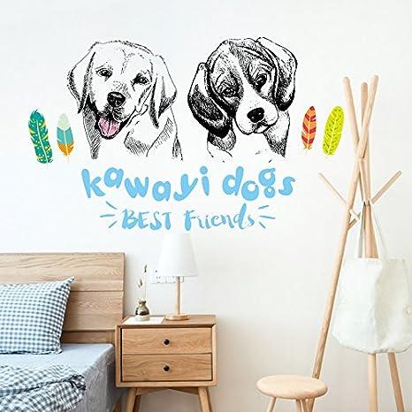 GOUZI El Muro Creativo niño Cama Pared Tiendas de Mascotas Lindo Perro, Lindo Perro,