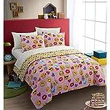 Emoji Full Size Bedding Emoji Pals Bling Bed in A Bag Light Pink, Queen
