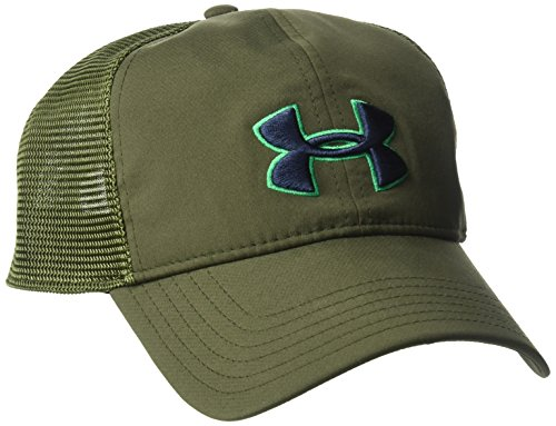 Under Armour Outerwear Men's Classic Mesh Back Cap, Rifle Green (308)/Midnight Navy, One Size Fits All
