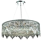 Chantal Chrome Contemporary 18-Light Hanging Chandelier Heirloom Grandcut Crystal in Crystal (Clear)-1727D32C-EC--32