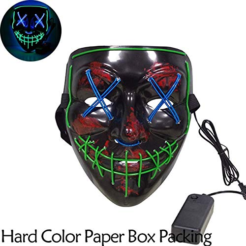 Camp Twin Lakes Halloween (TANGGOOO Halloween Mask Up Party Masks The Purge Election Year Great Funny Masks Festival Cosplay Costume Supplies Glow in Dark Must Haves for Kids 4 Year Old Boy Gifts Girls)