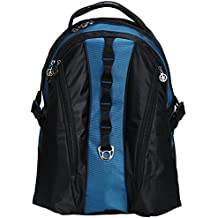 "Deluxe Laptop Backpack Heavy Duty Laptop Bookbag Ipad Tablet Daypack Student School Bag Travel Bag fits 15"" Laptop Navy"