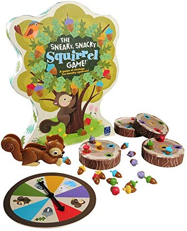 Educational Insights The Sneaky, Snacky Squirrel Game for Preschoolers & Toddlers, Easter Game for Kids, Color Recognition, Fine Motor Skills, Ages 3+