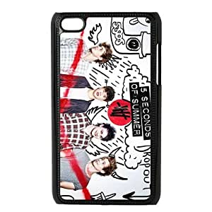 5 SOS 5 Second of Summer Hard Soft Compound Plastic Case Cover For iPod Touch 4th