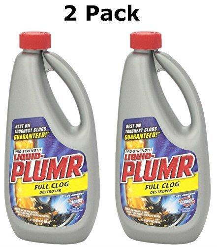Liquid-Plumr Pro Stength Full Clog Destroyer, 32 Fl Oz (2 Pack) by Liquid-Plumr