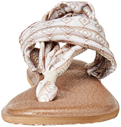 Mujer Sanuk Prints Tribal 2 Yoga Multi Chanclas Stripe para Natural Sling YTtwqT