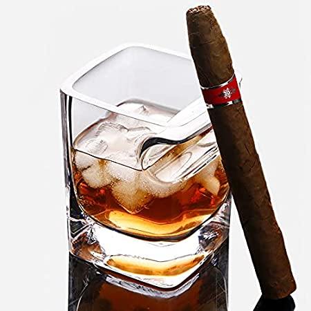 Vaso De Whisky, Copa De Cigarro, Copa Vintage Con Porta Cigarros Abollado, Copa De Vino Soplada A Mano De 320ml, Brandy, Vodka, Whisky, Bourbon, Ideal Para CóCteles, Etc.