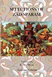 Selections of Zad Sparam, E. W. West, 1470101521
