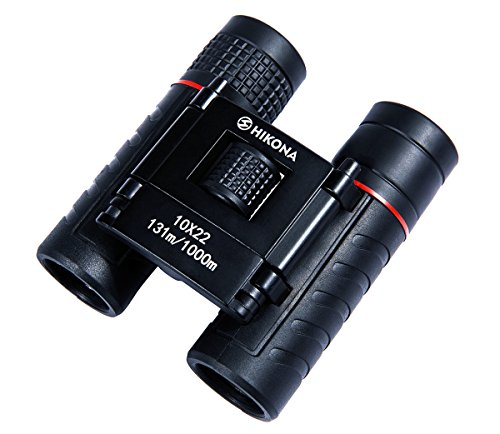 Small Lightweight Binoculars for Adults, 10x22 Folding Compact Binoculars for Kids, Outdoor Hunting, Birding, Traveling, Theater Opera, Fogproof Portable Mini Pocket Binoculars HIKONA