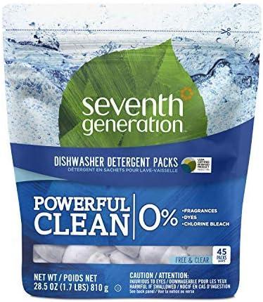 Bezzapachowe opakowanie detergentów do zmywarek do naczyń siódmej generacji