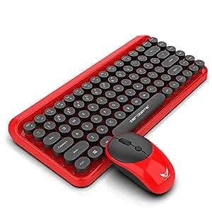 Teclado y ratón inalámbricos en el Reino Unido, portátil y liviano, Plug & Play