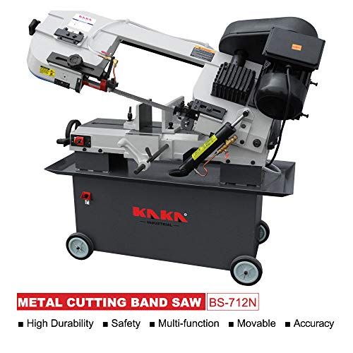 KAKA Industrial BS-712N, 7x12 Inch Metal Cutting Bandsaw, Solid Design Metal Bandsaw, Horizontal Bandsaw, High Precision Metal Band Saw, Build-In Safety Settings, Space Saver Metal Cutting Band Saw