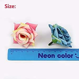 Flower Heads in Bulk Wholesale for Crafts Outdoor Artificial Rose Flower Heads Silk Flowers DIY Home Wedding Decoration Fake Flowers Party Festival Decor 20pcs 5cm 50